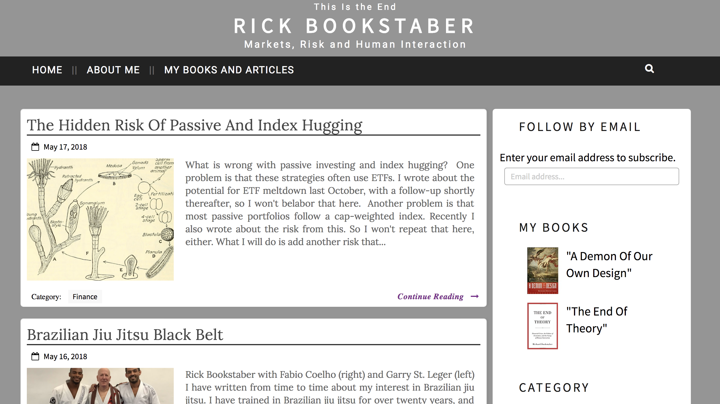 Bookstaber blog